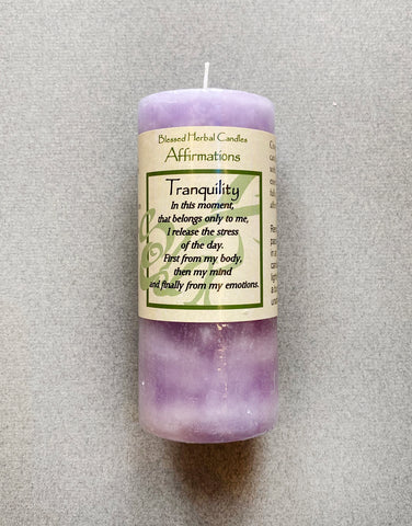 SPELL - SHORT CANDLE -  TRANQUILITY