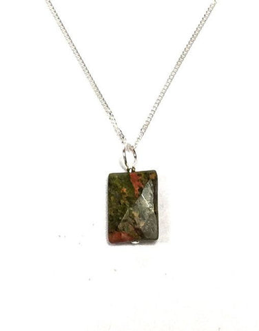 Unakite Rectangle Pendant