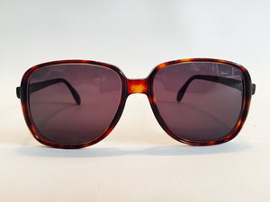 Rare Vintage Silhoutte  Sunglasses Dark Turtle shell m 2036/ 18 k gold