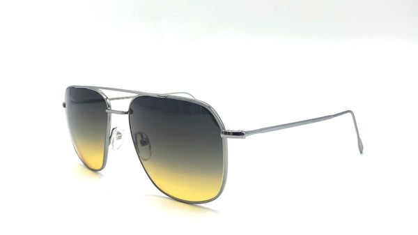 VENDITTI metal silver aviator-shaped shaded black/yellow lenses