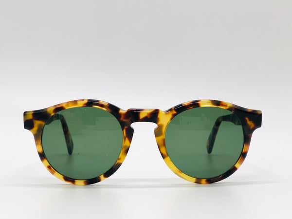 Round Turtle Shell Sunglasses