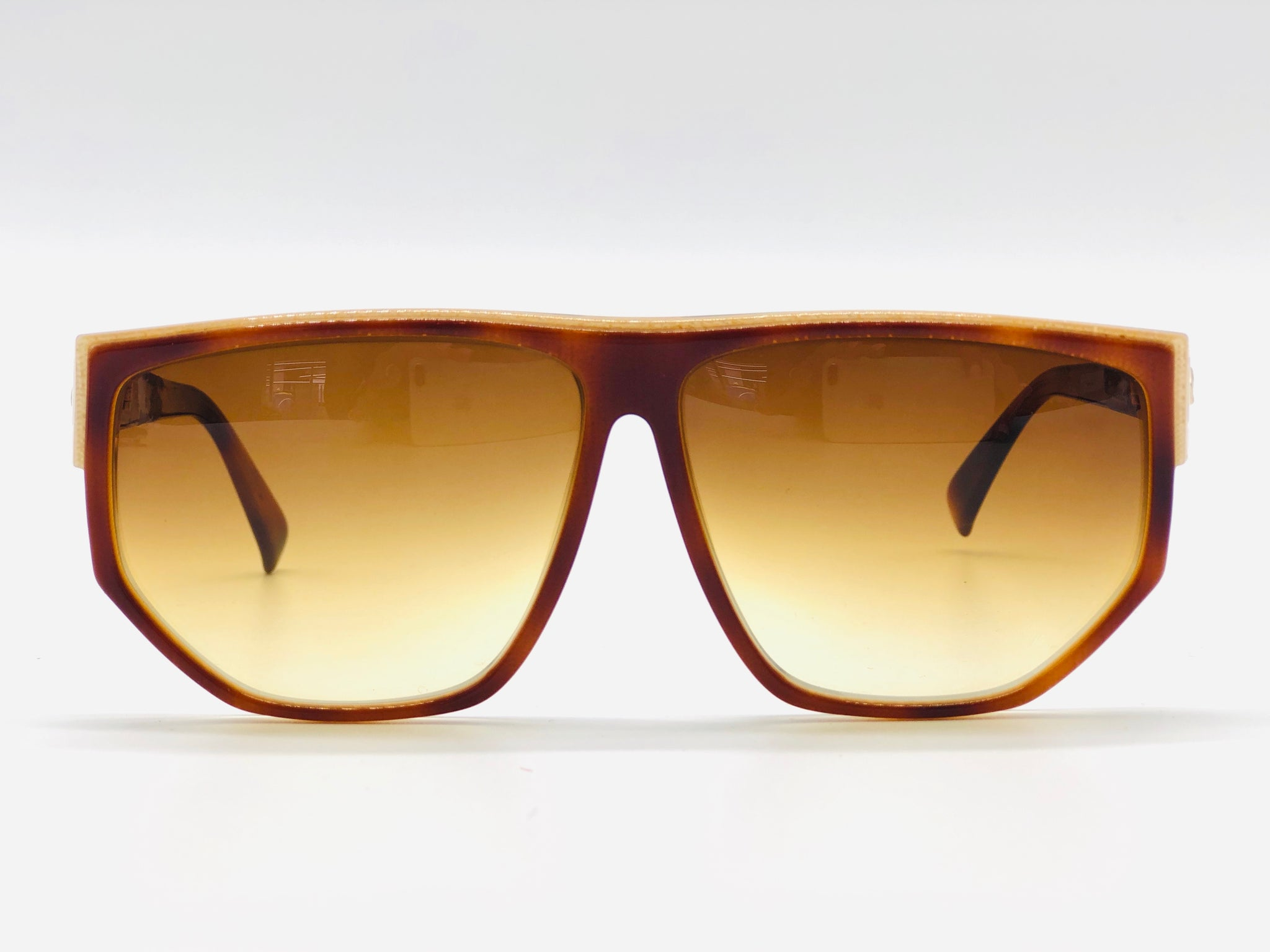 Vintage rare square sunglasses circa 1978 Real Gold trim