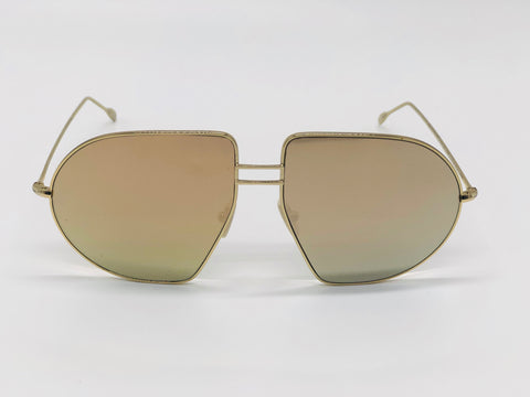 Oversized Pilot Sunglasses Gold
