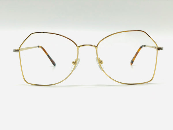 Oversized Metal Luxury Gold Optical frame
