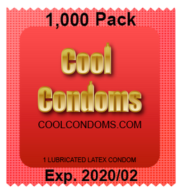 Bulk Cool Condoms #1,000 Quantity 1000 Pack