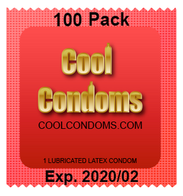 Bulk Cool Condoms #100 Quantity 100 Pack