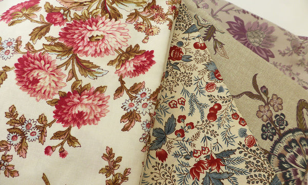 Gorgeous fabrics in the mailbox for my Vintage Nine Patch Quilt