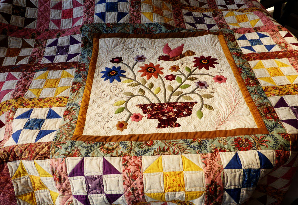 Choosing quilting designs and threads