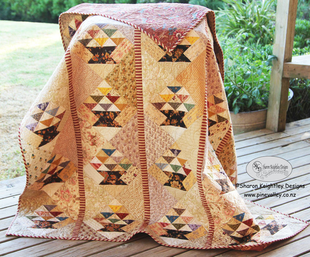 Time for a giveaway ! Scrappy Baskets Quilt Pattern