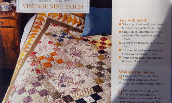 Today's Quilter Magazine and Vintage Nine Patch Quilt Pattern