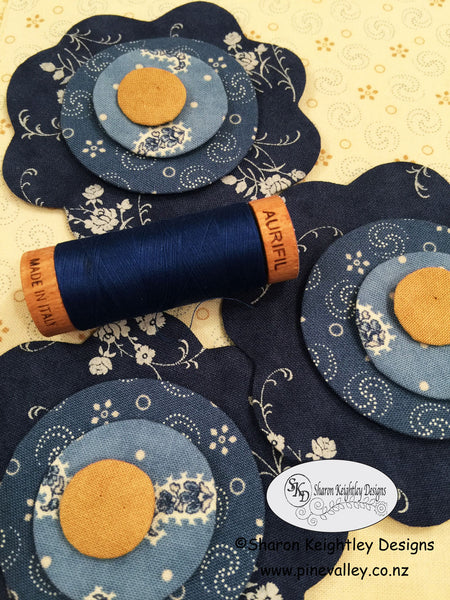 Layering and stitching the flowers |  Pine Valley Quilts