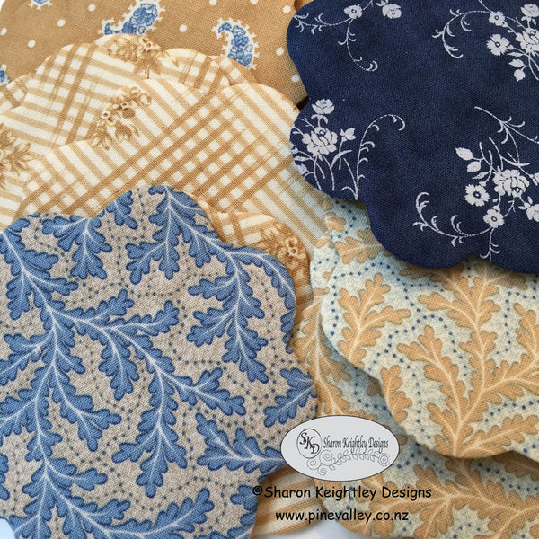 Applique Flowers with turned edges | Pine Valley Quilts
