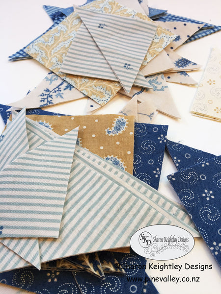 Grand Traverse Bay Fabric | Making Big T Blocks