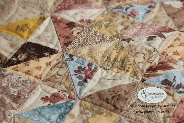 Aunt Bessy's Sparkle Table Runner | Sharon Keighltey Quilts