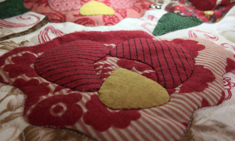 Stitched in the ditch Rose | Sharon Keightley Quilts