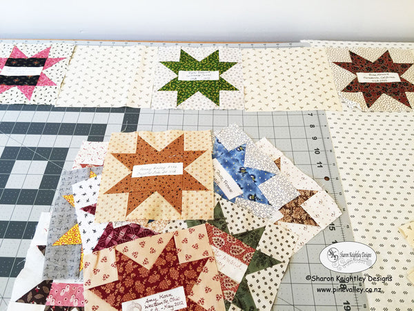 Sorting Freindship Star Blocks | Pine Valley Quilts