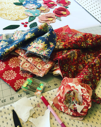 Roses Creative mess | Sharon Keightley Quilts