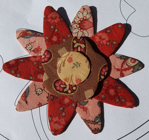 Sharon Keightley Quilts | Layering Flowers