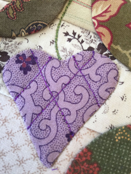 Playing with thread adding layers|Sharon Keightley Quilts