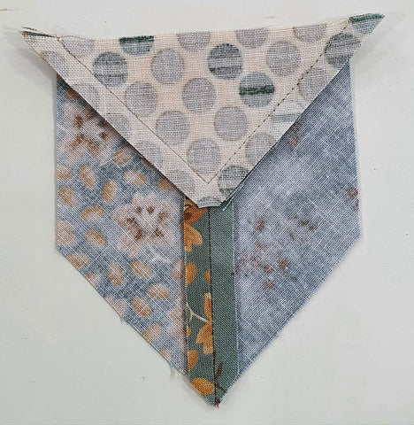 Lemoyne star pieces sewn and pressed | Sharon Keightley Quilts