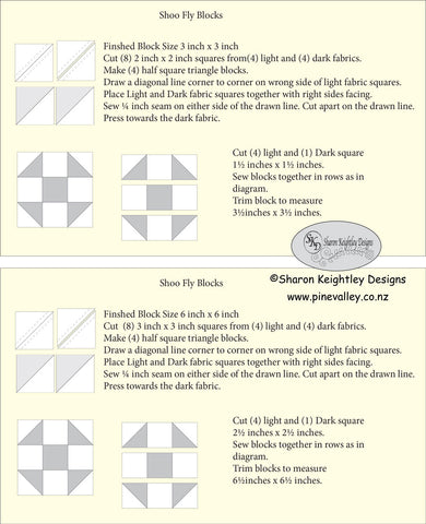 Shoo Fly Quilt Block Instructions Sharon Keightley Quilts
