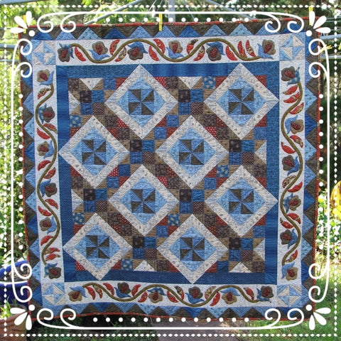 Union Blues Quilt Pattern | Sharon Keightley Designs