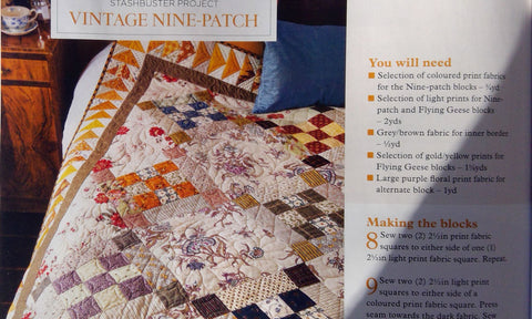 Vintage Nine Patch Quilt Pattern | Sharon Keightley Quilts