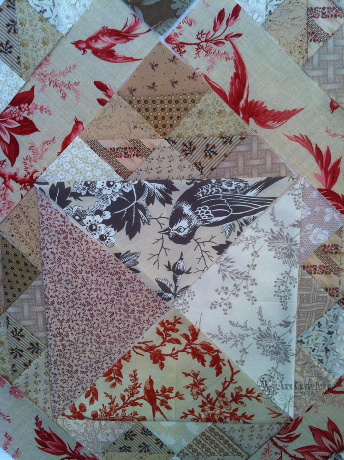 Birds in the Air Blocks with Bird Fabric