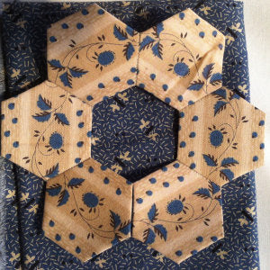 Hexagon Quilt / Growing Slowly / Pine Valley Quilts