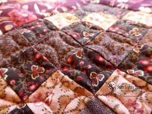 Falling Stars Close up /  Pine Valley Quilts