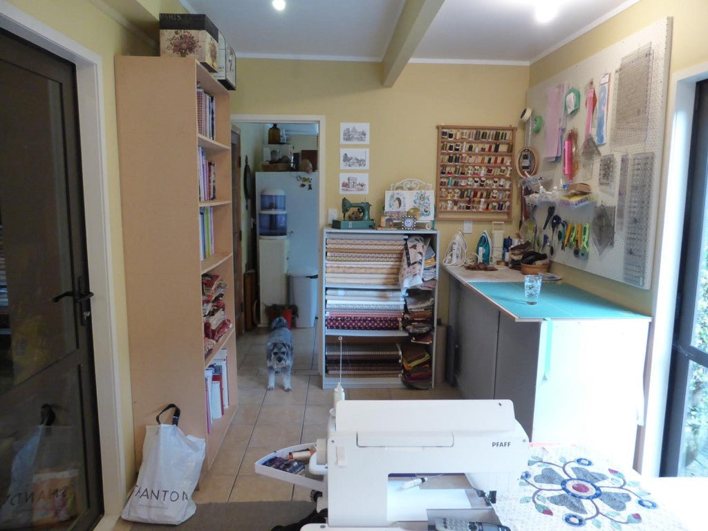Finished Sewing room with Rosie
