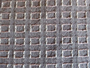 Grey:Green Open Weave Plaid