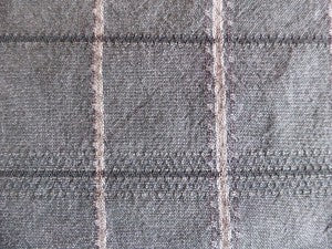 Grey:Green with stripe open weave plaid
