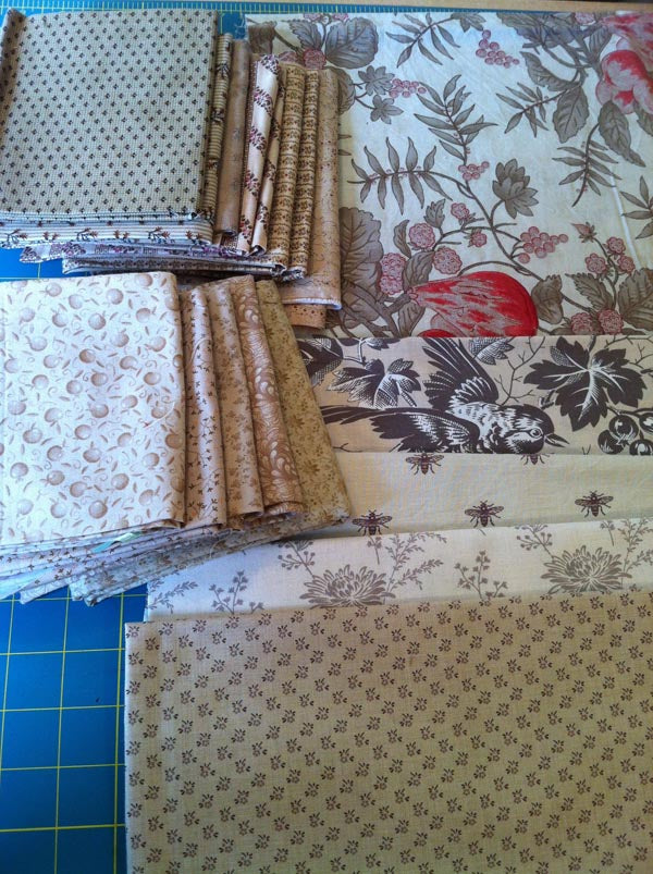 More fabric choices for Neutral Quilt