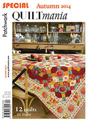 Quilt Mania Autumn Issue / Star Flower Table Runner