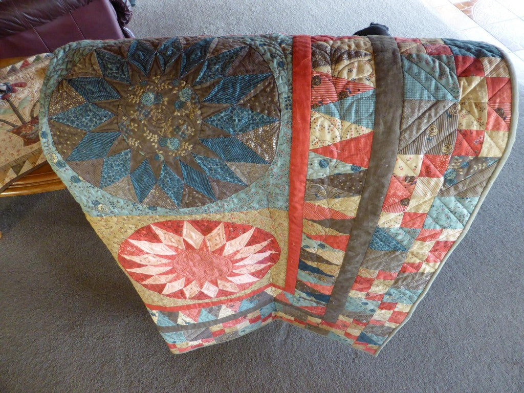 Quilt over chair