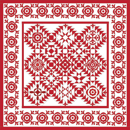 Simply Red Quilt BOM/Pine Valley Quilts