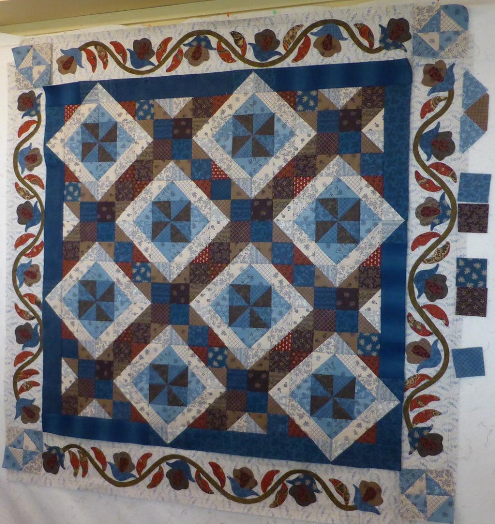 Applique Border for Union Blues Quilt / Pine Valley Quilts