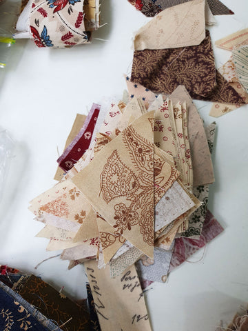 Half square triangles from scraps   Sharon Keightley Quilts