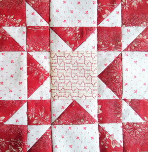 Simply Red Quilt BOM Block One - Pine Valley Quilts