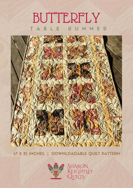 Butterfly Runner | Sharon Keightley Quilts