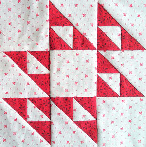 Simply Red Quilt BOM|Block Eight |Cat's Cradle