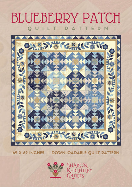 Blueberry Patch Quilt | Sharon Keightley Designs