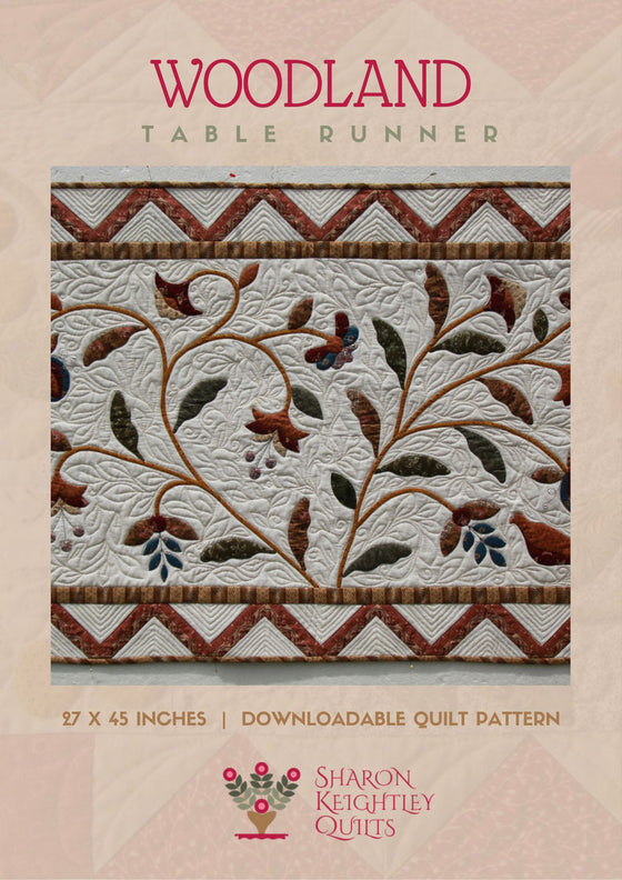 Woodland Table Runner Quilt Pattern - Pine Valley Quilts