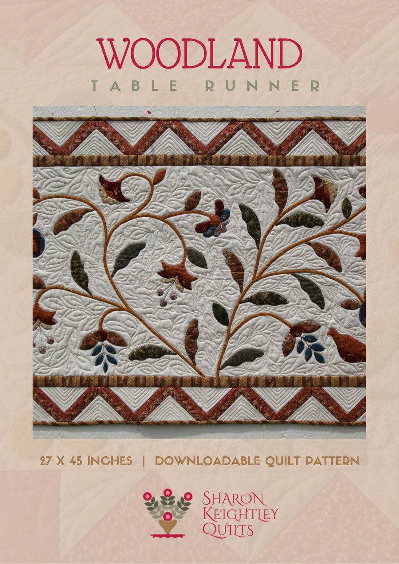 Woodland Table Runner Quilt Pattern | Sharon Keightley Quilts