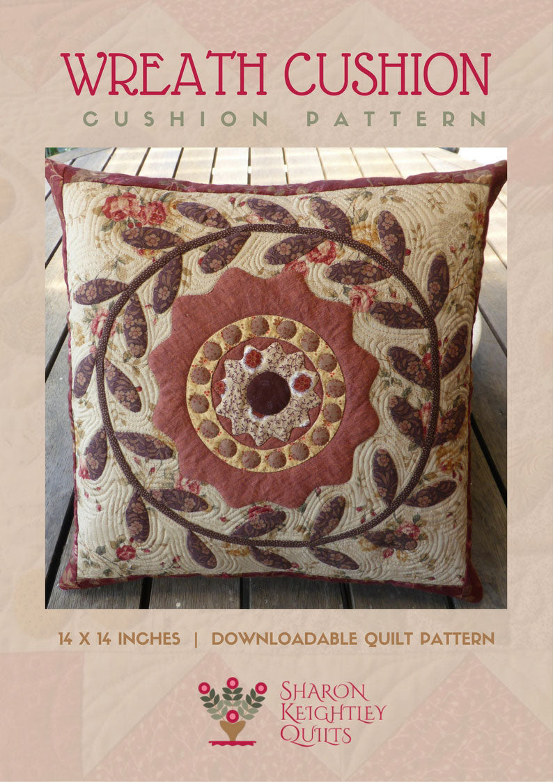 Wreath Cushion Pattern - Pine Valley Quilts