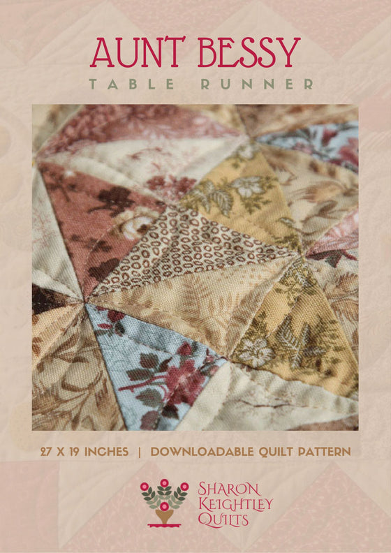 Aunt Bessy's Sparkle Table Runner Pattern | Sharon Keightley Quilts