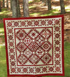 Simply Red Quilt Complete Pattern Set