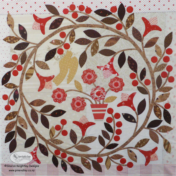 Winterwood Quilt Pattern BOM Center Block Pattern