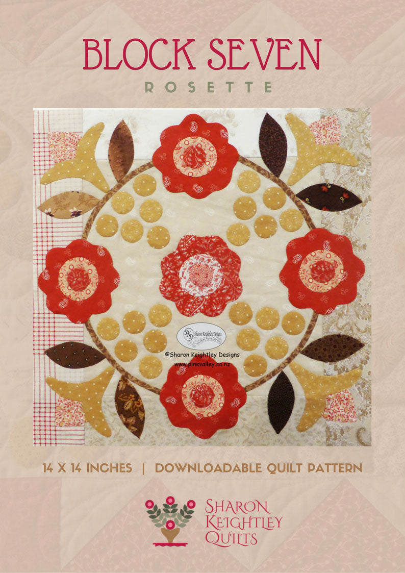 Winterwood Quilt Pattern BOM | Rosette | Block Seven - Pine Valley Quilts